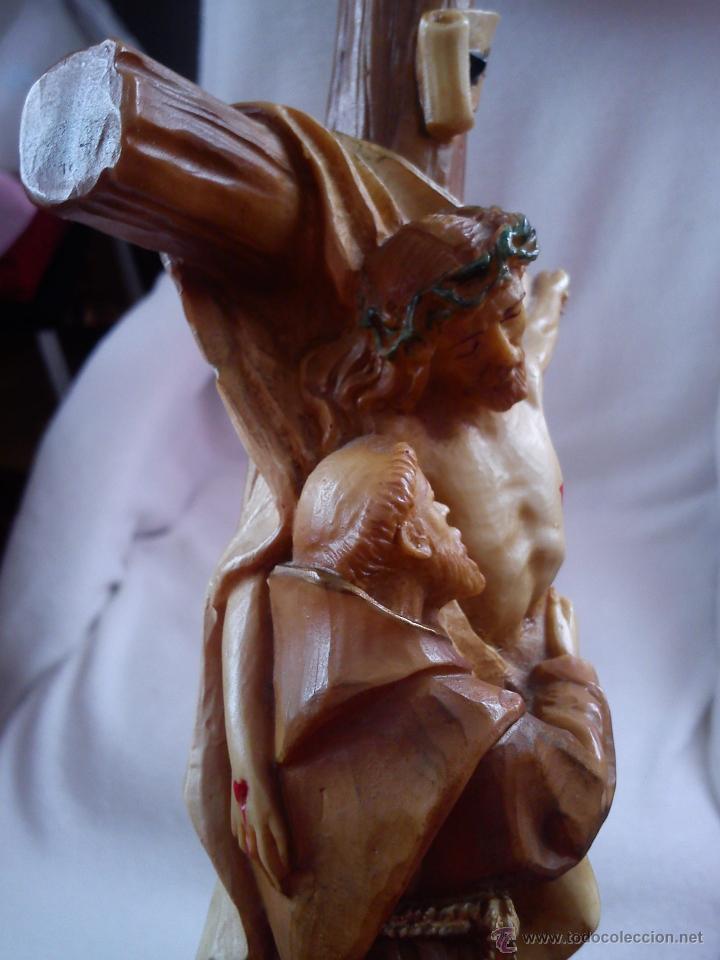 Arte: PRECIOSA ESCULTURA DE JESUS CRISTO CON San Francisco de asis.HECHA DE RESINA SELLADA AÑO 1992 - Foto 6 - 42144826