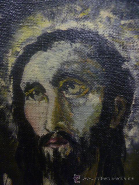 Arte: Precioso antiguo cuadro de Jesús - firmado por LAFITA. (92 cm x 69 cm) - Foto 4 - 42163349