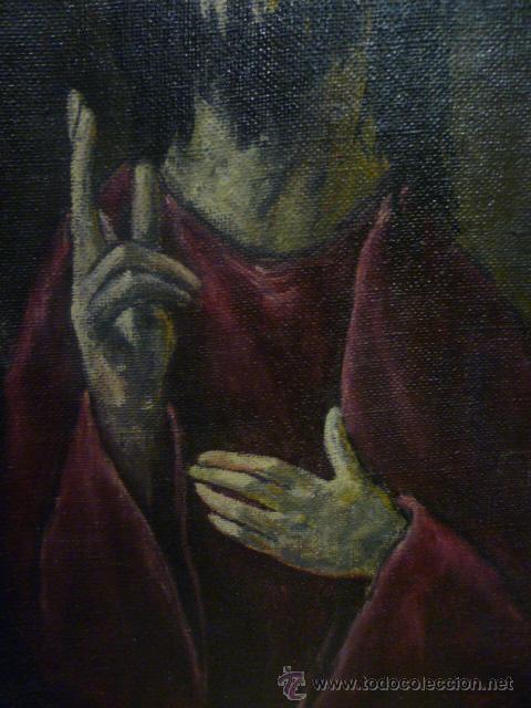 Arte: Precioso antiguo cuadro de Jesús - firmado por LAFITA. (92 cm x 69 cm) - Foto 5 - 42163349
