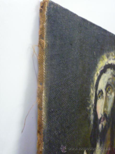 Arte: Precioso antiguo cuadro de Jesús - firmado por LAFITA. (92 cm x 69 cm) - Foto 9 - 42163349