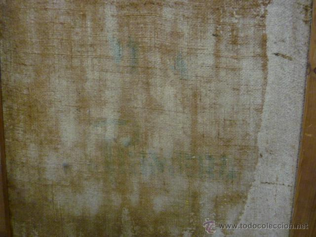 Arte: Precioso antiguo cuadro de Jesús - firmado por LAFITA. (92 cm x 69 cm) - Foto 11 - 42163349