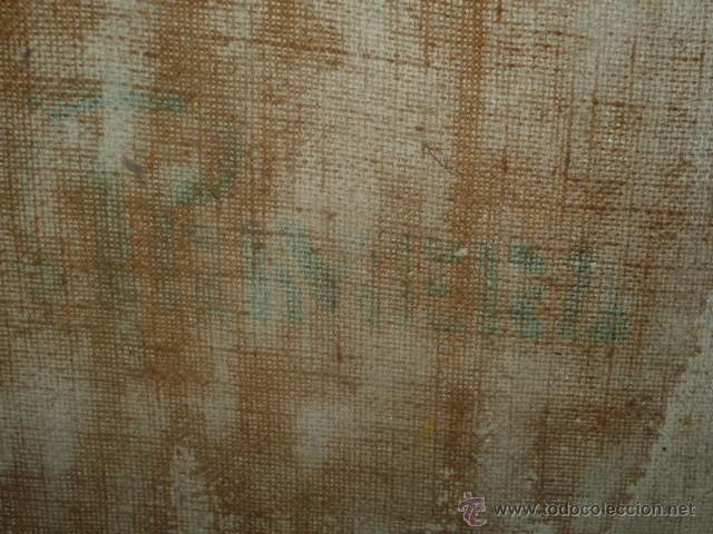 Arte: Precioso antiguo cuadro de Jesús - firmado por LAFITA. (92 cm x 69 cm) - Foto 12 - 42163349