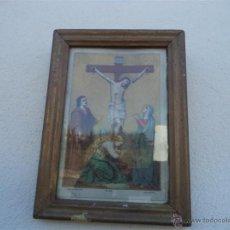 Arte: ANTIGUA LAMINA RELIGIOSA Y MARCOS. Lote 42169887