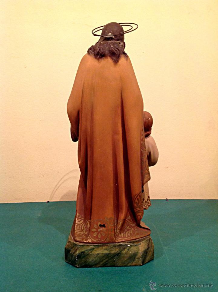 Arte: Antigua Figura Escultura Religiosa San José Con El Niño Medidas 46cmx17cm - Foto 4 - 42329965