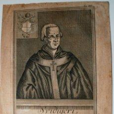 Arte: MUY ANTIGUO Y RARISIMO GRABADO DEL PAPA CLEMENTE II, SVIDIGERI, ESCRITO EN LATIN. Lote 42403035