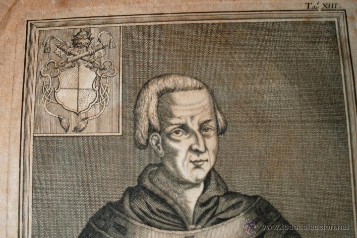 Arte: MUY ANTIGUO Y RARISIMO GRABADO DEL PAPA CLEMENTE II, SVIDIGERI, ESCRITO EN LATIN - Foto 2 - 42403035