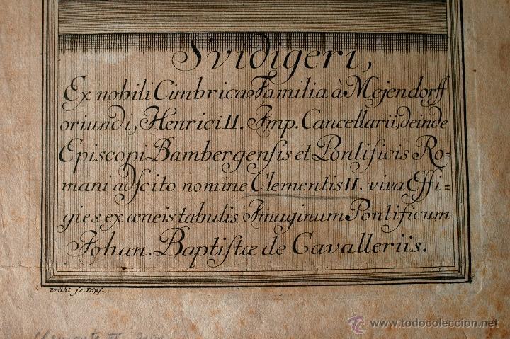 Arte: MUY ANTIGUO Y RARISIMO GRABADO DEL PAPA CLEMENTE II, SVIDIGERI, ESCRITO EN LATIN - Foto 3 - 42403035