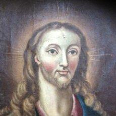 Arte: OLEO SOBRE TELA, RETRATO JESUS, SIN ENMARCAR, SIGLO XIX, 32X24CM-XX. Lote 42434029