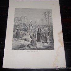 Arte: GUSTAVE DORÉ, ENTRADA DE JESÚS EN JERUSALÉN.. Lote 42468540