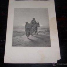 Arte: GUSTAVE DORÉ, HUIDA A EGIPTO.. Lote 42570943