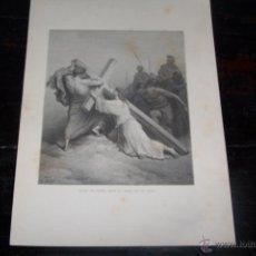 Arte: GUSTAVE DORÉ, CAÍDA DE JESÚS BAJO EL PESO DE LA CRUZ.. Lote 42571322