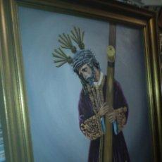 Arte: LIENZO DE JESUS DEL GRAN PODER - SEMANA SANTA SEVILLA, DEL GRAN PINTOR SEVILLANO CUBILLANA. Lote 42611614