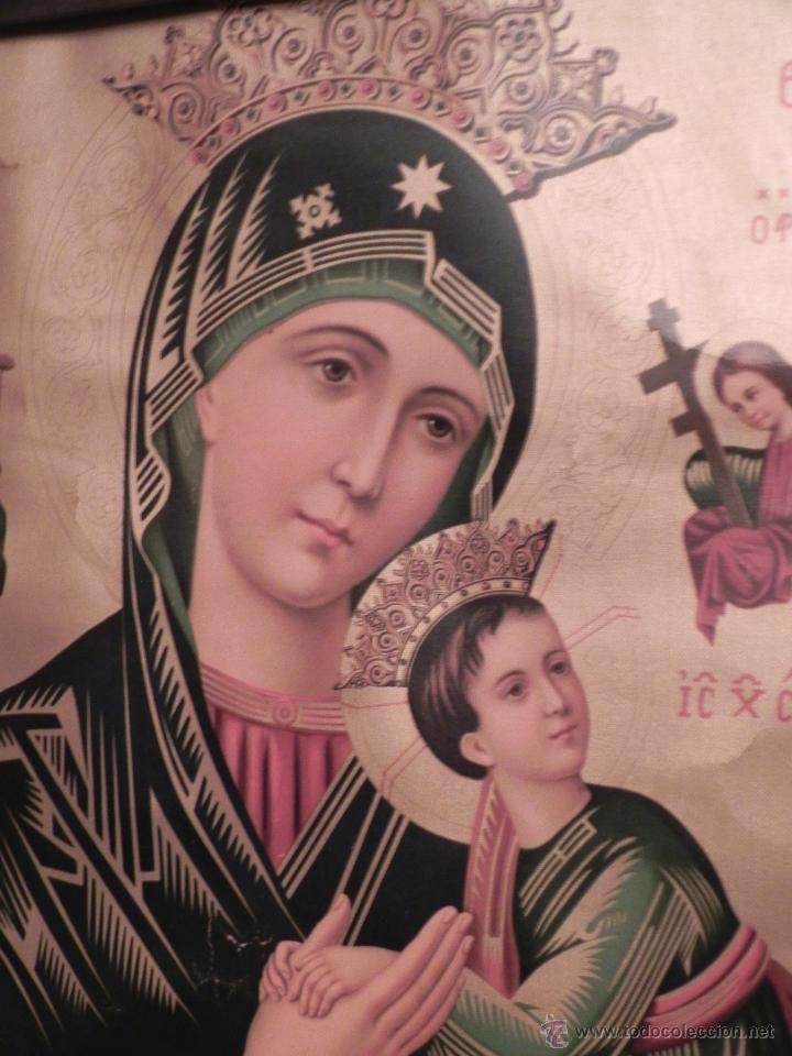 Arte: Vendo Cuadro Antigüo de la Virgen del Perpetuo Socorro (Fecha sin datar). Incluido Marco. - Foto 10 - 42638230