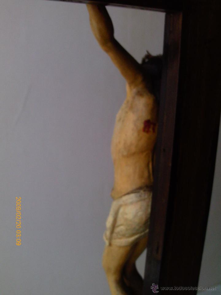 Arte: CRISTO CRUCIFICADO S.XVII - XVIII -ESCUELA GENOVESA -TALLA MADERA - POLICROMADA - CRUCIFIJO - Foto 19 - 171695162