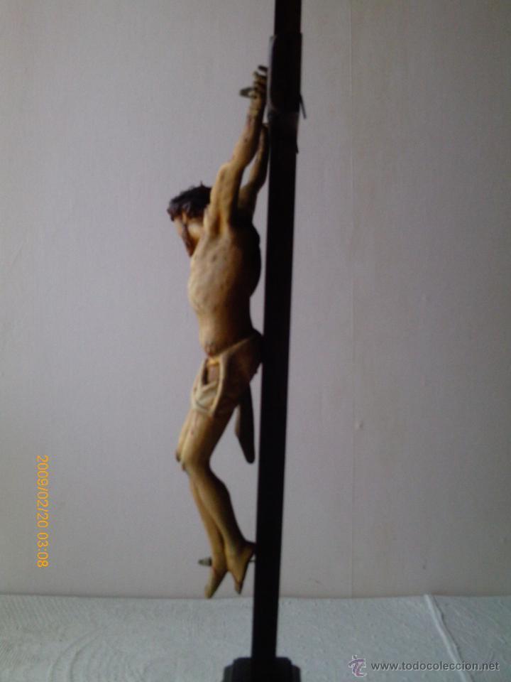Arte: CRISTO CRUCIFICADO S.XVII - XVIII -ESCUELA GENOVESA -TALLA MADERA - POLICROMADA - CRUCIFIJO - Foto 25 - 171695162