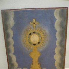 Arte: CUSTODIA. POLICROMIA SOBRE TABLA. SIGLO XVIII. . Lote 42786098