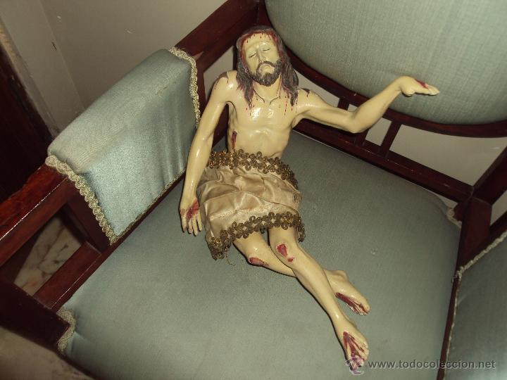 ANTIGUA TALLA EN MADERA DE JESUS YACENTE (Arte - Arte Religioso - Escultura)