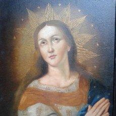 Arte: BELLISIMA VIRGEN NINA COLONIAL - OLEO EN TELA - REPLICA (75 CM X 56 C. Lote 42871349