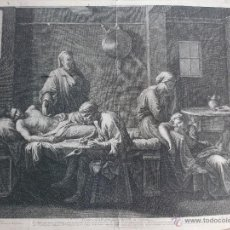 Arte: POUSSIN / J. PESNE. TESTAMENT D'EUDAMIDAS DE LA VILLE DE CORINTHE, GRABADO SIGLO XVII 58X47 CM. Lote 42904928