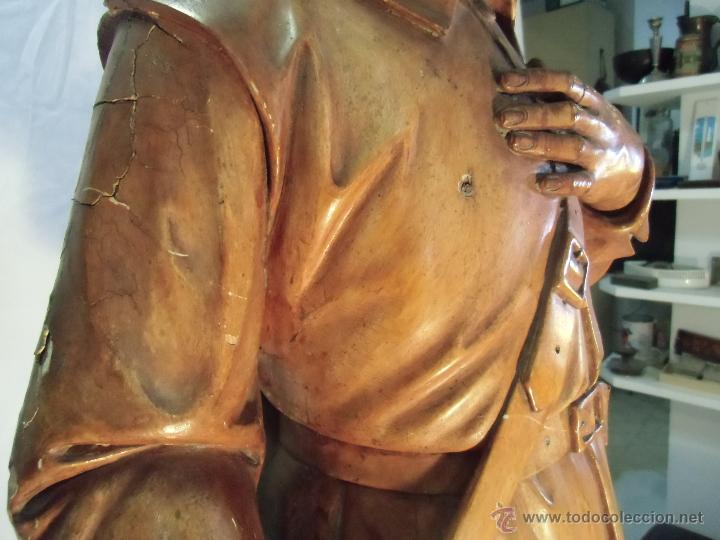 Arte: San isidro de madera, siglo XVIII-XIX - Foto 7 - 43043903