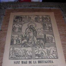 Arte: SANT MAGI DE LA BRUFAGANYA ,MANRESA IMP. Y LITOGRAFIA LUIS ROCA . S.XIX - 32X22 CM. . Lote 43089517