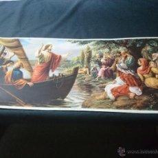 Arte: JESÚS PREDICANDO A LOS PESCADORES(AÑOS 50). Lote 43092139