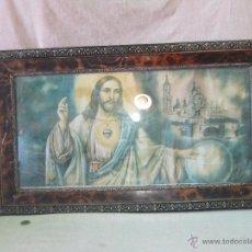 Arte: LITOGRAFIA ANTIGUA CORAZON DE JESUS. Lote 43152309