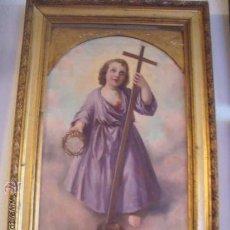 Arte: MAGNIFICO OLEO TABLA 1917 PUERTA SAGRARIO DEL GRAN PINTOR FEDERICO GODOY CADIZ NIÑO JESUS PASIONARIO. Lote 33213941