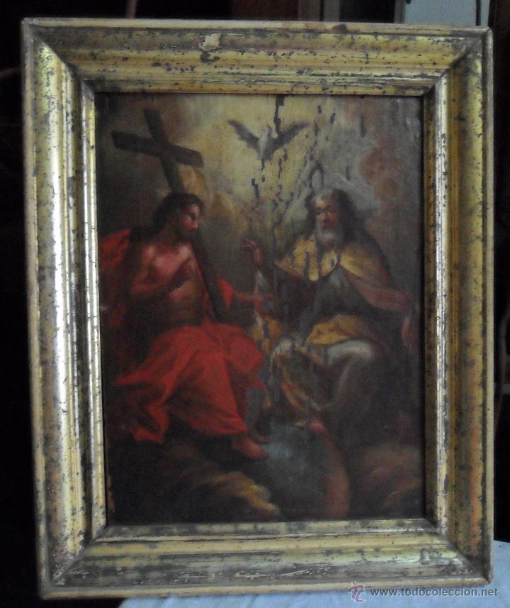 Arte: ÓLEO SOBRE LIENZO TRINIDAD ATRIBUIDO A J. ANTONIO ZAPATA Y NADAL 1762-1837 - 1000-071 - Foto 3 - 43145369