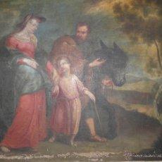 Arte: ÒLEO RETORNO DE LA HUIDA DE EGIPTO SIGLO XVIII - 1000-004. Lote 43107214