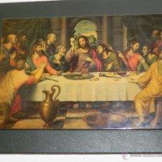 Arte: VENDO LAMINA ANTIGUA SOBRE TABLERO DE LA SANTA CENA. (VER MÁS FOTOS EN EL INTERIOR).. Lote 43350690