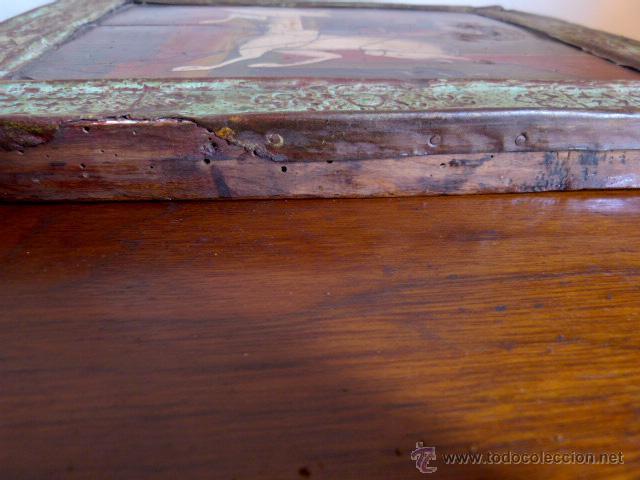 Arte: Icono ruso San Jorge , época finales 18 o principios 19? oleo sobre tabla nogal - Foto 3 - 43357116