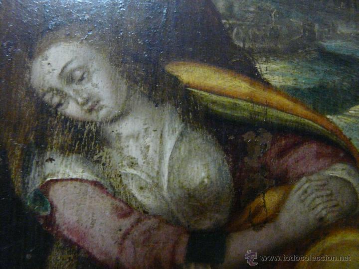 Arte: ÓLEO SOBRE COBRE Mª MAGDALENA EN EL SEPULCRO SIGLO XVI - 1000-024 - Foto 4 - 43107522