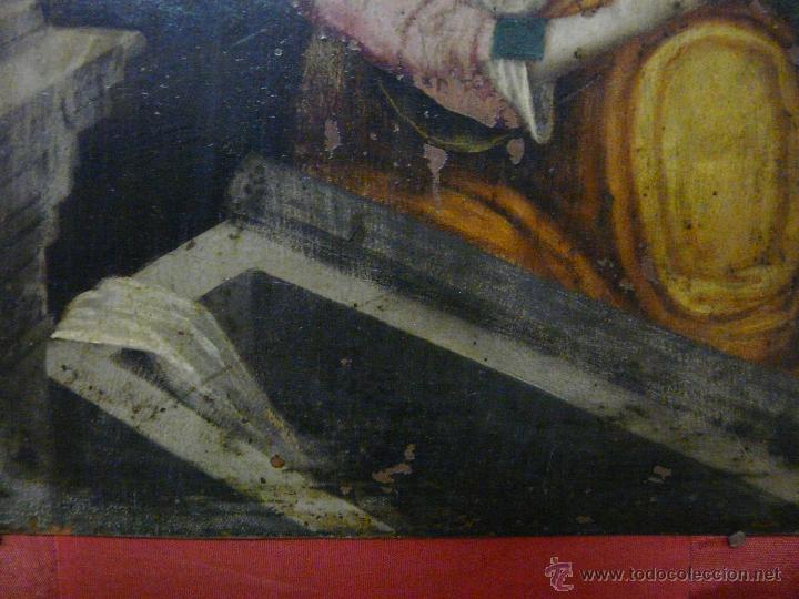 Arte: ÓLEO SOBRE COBRE Mª MAGDALENA EN EL SEPULCRO SIGLO XVI - 1000-024 - Foto 5 - 43107522