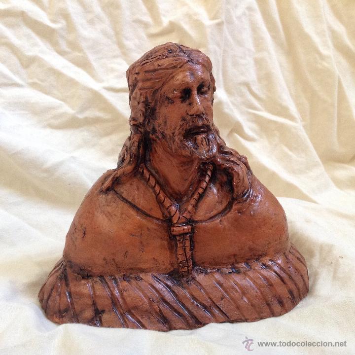 BUSTO 15 CTMS EN TERRACOTA. (Arte - Arte Religioso - Escultura)