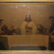 Arte: GEBHARD FUGEL (1863-1939) - LA ÚLTIMA CENA - LITOGRAFÍA ENMARCADA - SIGLO XIX. Lote 150537968
