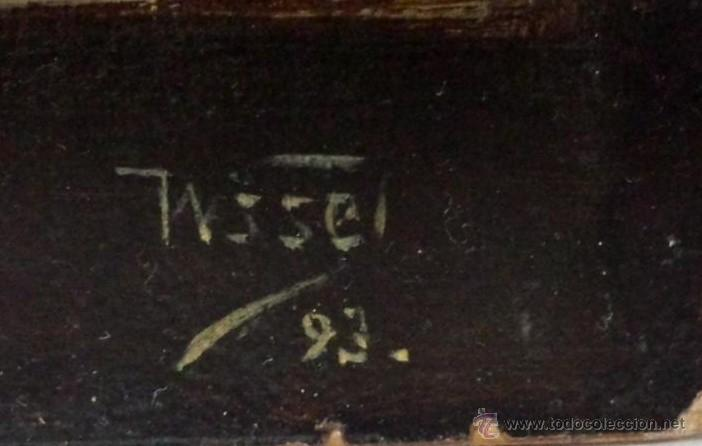 Arte: ÓLEO SOBRE PAPEL ADHERIDO A TABLA WSSEL ALEGORÍA A LA VIRGEN SIGLO XIX- XX - 1000-014 - Foto 5 - 43425175