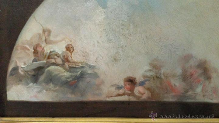 Arte: ÓLEO SOBRE PAPEL BOCETO DE TEMA RELIGIOSO CON ALEGORÍA DE LA VIRGEN - 1000-020 - Foto 3 - 43428503