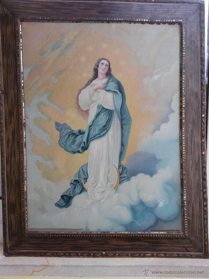 cuadro de la virgen en chapa de 36 x 27 cms sin - Comprar en ...