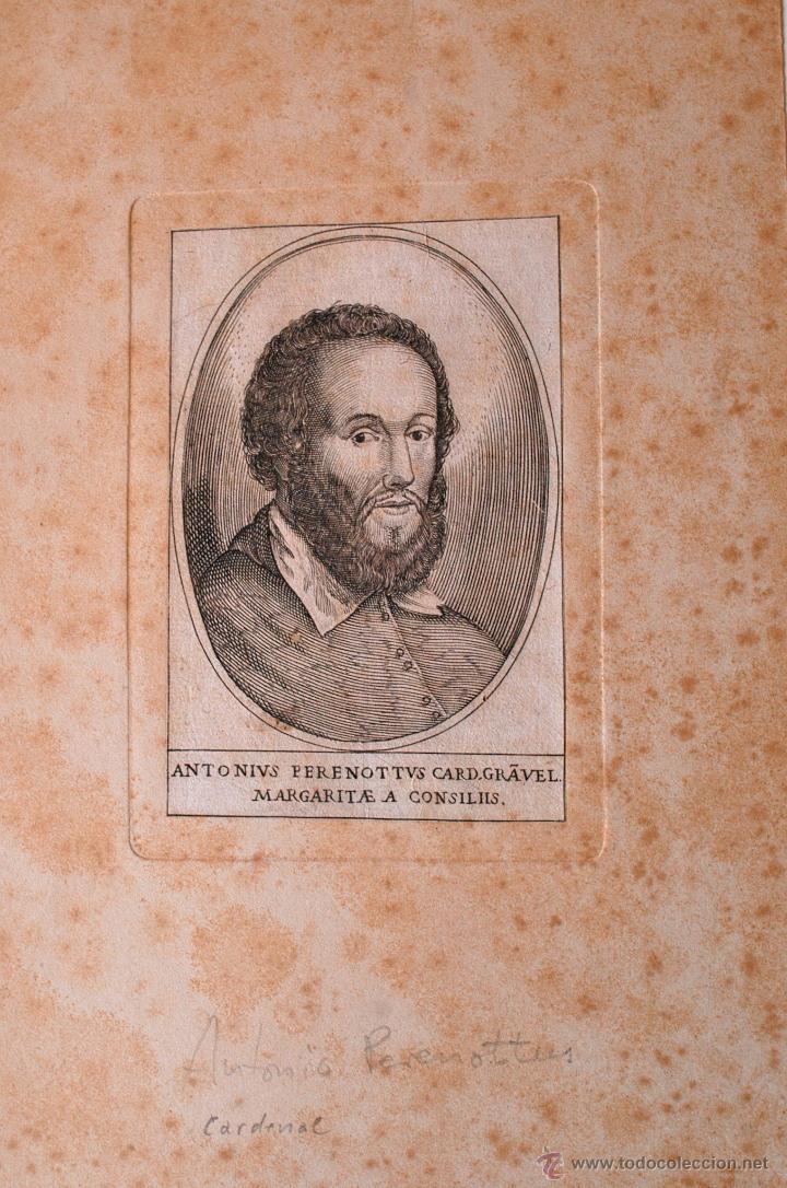 GRABADO ANTIGUO DE DON ANTONIO PERENOTTUS, CARDENAL (Arte - Arte Religioso - Grabados)