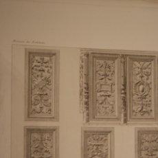 Arte: PANELES RENACENTISTAS. IGLESIA DE ST. MACLOU, PONTOISE (FRANCIA). LITOGRAFÍA, 1897.. Lote 43593809