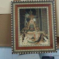 Arte: PRECIOSO CUADRO CREO MARQUETERIA VIRGEN Y JESUCRISTO. Lote 43608603