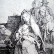 Arte: DURERO, A. (1471-1528). SAGRADA FAMILIA CON SAN JUAN. SIGLO XIX. BARTSCH 43.. Lote 43613930