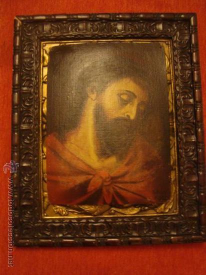 ANTIGUO Y MAGNIFICO PINTURA AL OLEO CRISTO FIRMADO 1934 FEDERICO, 32 X 24 CM (Arte - Arte Religioso - Pintura Religiosa - Oleo)