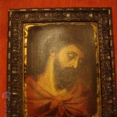 Arte: ANTIGUO Y MAGNIFICO PINTURA AL OLEO CRISTO FIRMADO 1934 FEDERICO, 32 X 24 CM. Lote 32120879