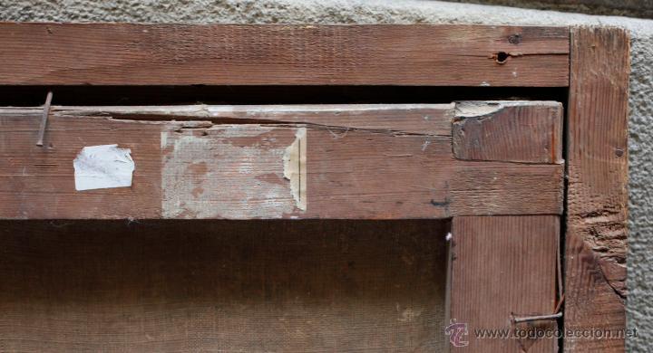 Arte: Obispo, óleo sobre tela siglo XVIII. Tamaño marco: 105x105 cm. Tela: 99x99cm. Ver fotos - Foto 2 - 43675750