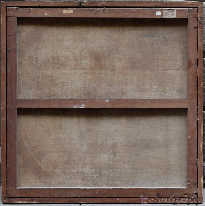 Arte: Obispo, óleo sobre tela siglo XVIII. Tamaño marco: 105x105 cm. Tela: 99x99cm. Ver fotos - Foto 4 - 43675750