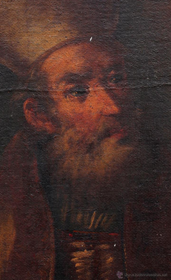 Arte: Obispo, óleo sobre tela siglo XVIII. Tamaño marco: 105x105 cm. Tela: 99x99cm. Ver fotos - Foto 5 - 43675750