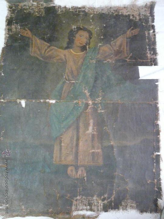 Arte: ÓLEO SOBRE LIENZO NIÑO DE PASIÓN SIGLO XVIII - 1000-088 - Foto 2 - 43724324