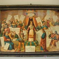 Arte: ANTIGUA LITOGRAFIA TITULADA JUICIO INJUSTO. SIGLO XIX. CON MARCO ORIGINAL. Lote 43913822